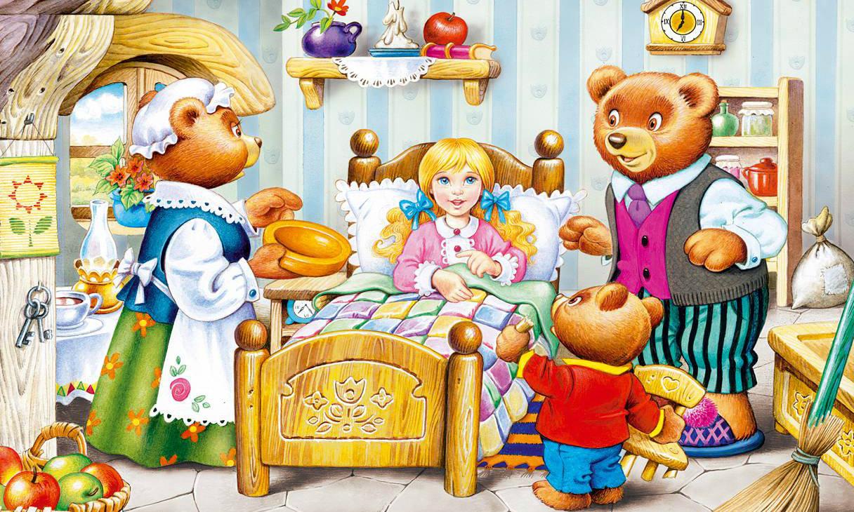 разрезные картинки к сказке три медведя близких любимых силы