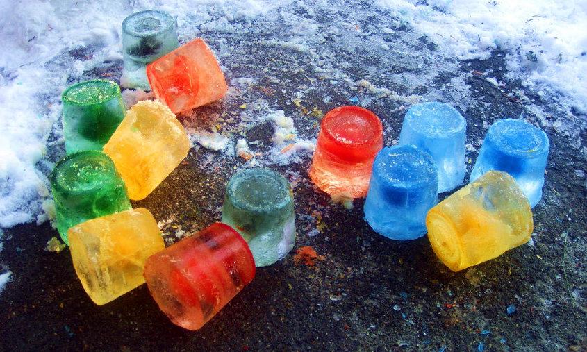 Как сделать замороженный лед
