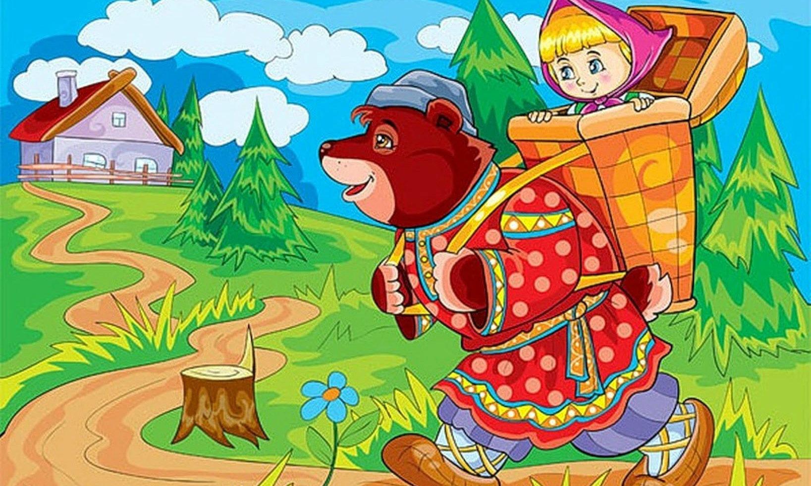 Картинки маша из русской народной сказки